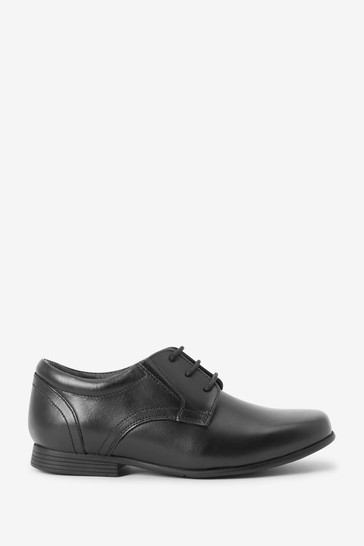 Black Standard Fit (F) Leather Formal Lace-Up Shoes (Older)