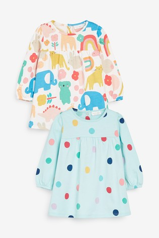 Multi 2 Pack Tunic Tops (0mths-3yrs)