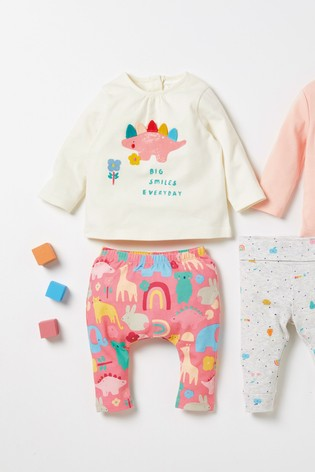 Bright Pink/White 2 Piece Character T-Shirt And Leggings Set (0mths-2yrs)