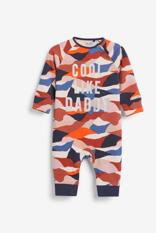 Rust Cool Like Daddy Camo Footless Zip Sleepsuit (0mths-3yrs)