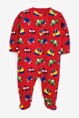 Green 3 Pack Dinosaur Sleepsuits (0mths-2yrs)