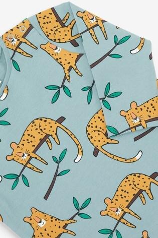 Green GOTS Organic Cheetah T-Shirt and Legging Set (0mths-3yrs)