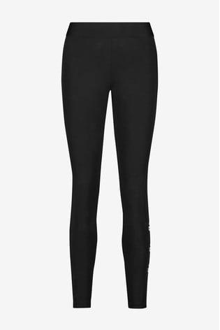 adidas Black Stacked Logo Leggings
