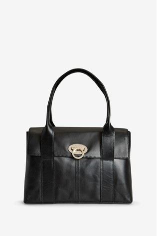 Black Leather Collection Tote Bag