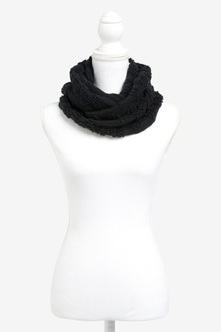 Black Sparkle Snood Scarf