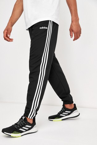 adidas Black Essentials 3 Stripe Joggers