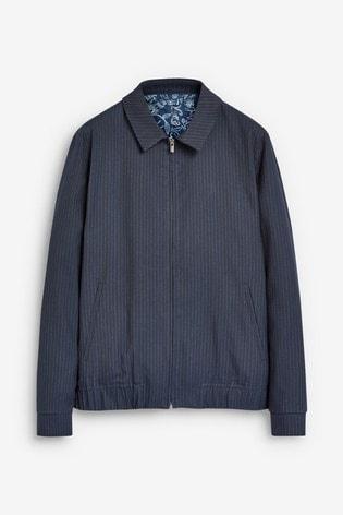 Stripe Zip Through Jacket