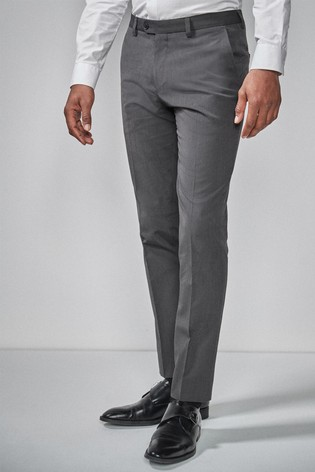 Charcoal Slim Fit Suit: Trousers