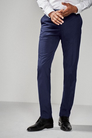 Bright Blue Slim Fit Suit: Trousers