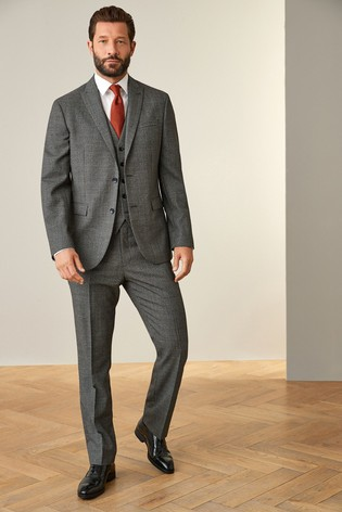 Grey Jacket Signature Puppytooth Regular Fit Suit