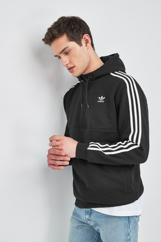 adidas Originals 3 Stripe 1/2 Zip Hoodie