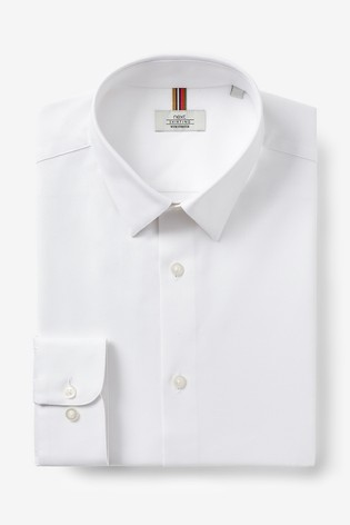White Regular Fit Single Cuff Cotton Stretch Motion Flex Shirt