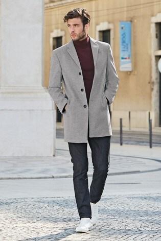 Light Grey Epsom Coat