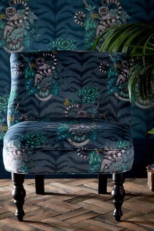 Lemur Navy Langley Chair by Emma Shipley