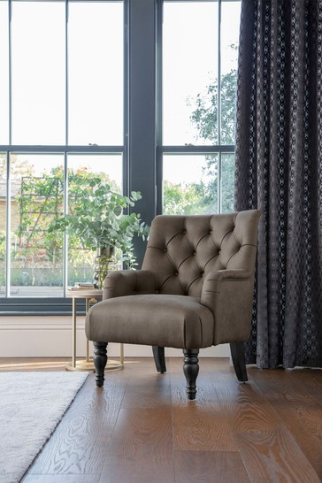 Wolton Button Armchair With Black Legs