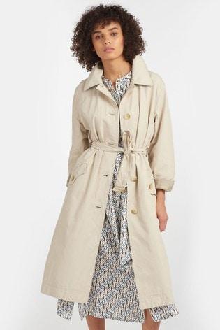 Barbour® Tartan Beige Showerproof Millford Trench Coat