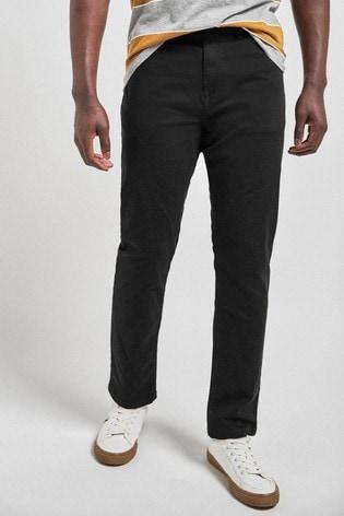 Black Slim Fit Motion Flex Soft Touch Trousers