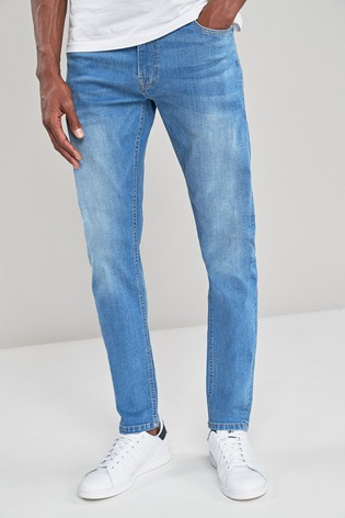 Bright Blue Skinny Fit Jeans With Stretch