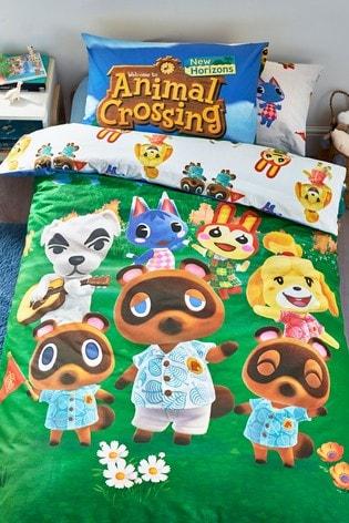 Animal Crossing Reversible Duvet Cover and Pillowcase Set