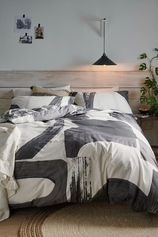 Know Ripley Abstract Geo Reversible Duvet Cover And Pillowcase Set