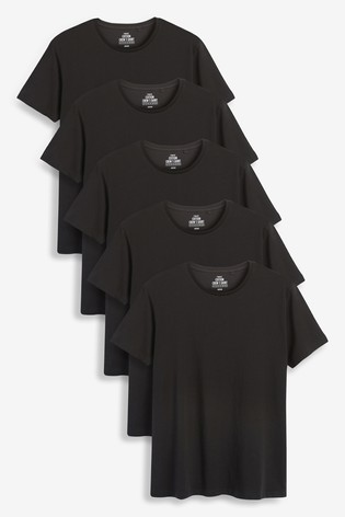 Black T-Shirts Five Pack