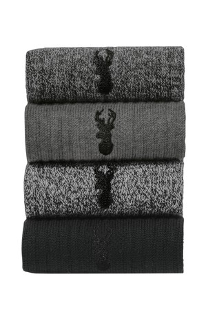 Grey Heavyweight Socks Four Pack