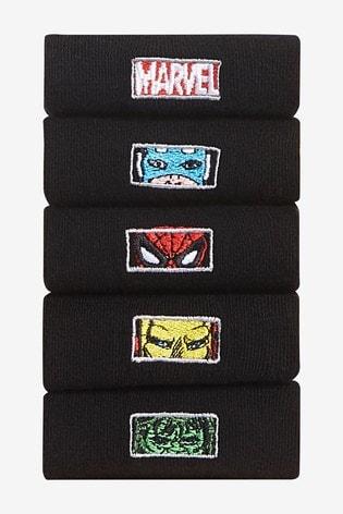 Marvel Embroidered 5 Pack License Socks