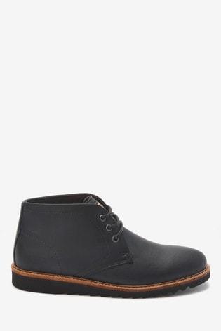 Black Razor Sole Boots