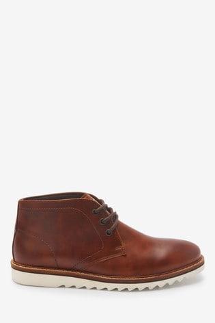 Tan Razor Sole Boots