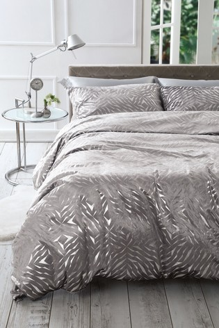 Velvet Metallic Foiled Duvet Cover and Pillowcase Set