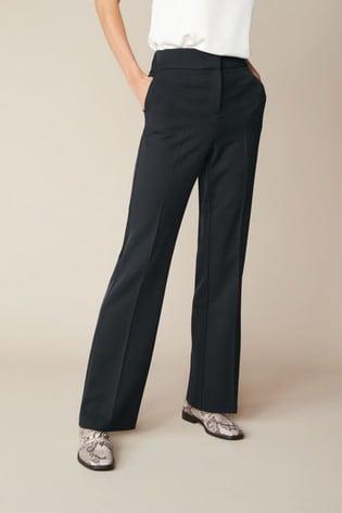 Black Shapewear Boot Cut Trousers