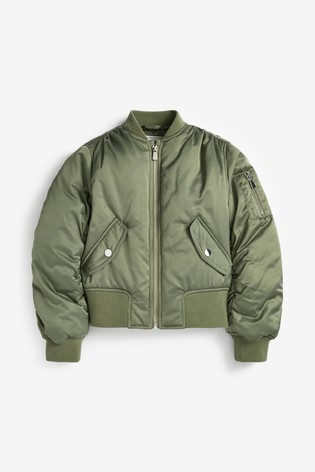 Khaki Shower Resistant Bomber Jacket (2-16yrs)