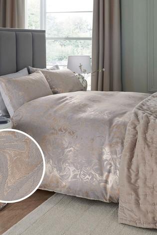 Jacquard Marble Duvet Cover And Pillowcase Set