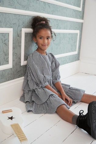 Tiered Gingham Dress (3-16yrs)