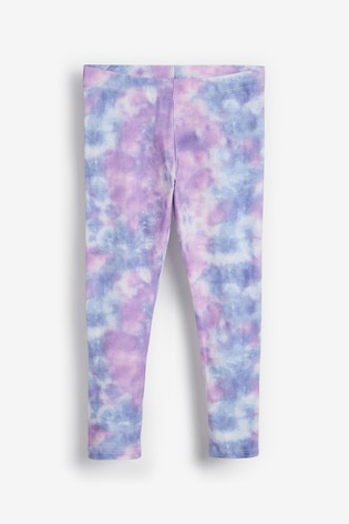 Blue/Pink Tie Dye Leggings (3-16yrs)