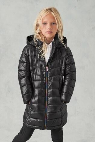 Black Narrow Padded Coat (3-16yrs)