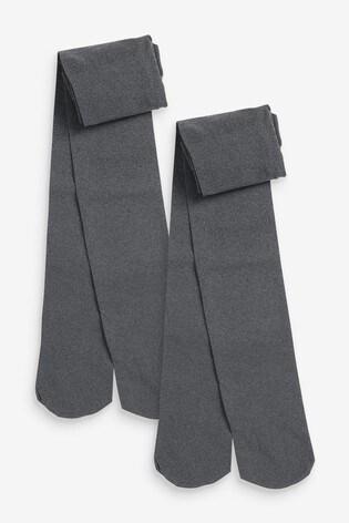 Grey 2 Pack 40 Denier Tights