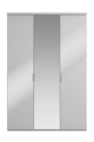 Peyton 1.5M Glass Hinged 3 Door Wardrobe