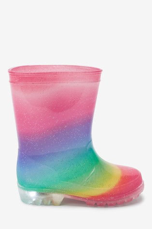 Rainbow Light-Up Wellies (Younger)