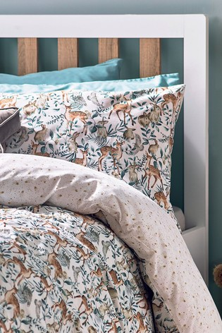 Woodland Reversible Duvet Cover and Pillowcase Set