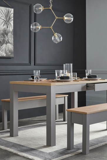 Malvern Dove Grey Storage 6 Seater Dining Table