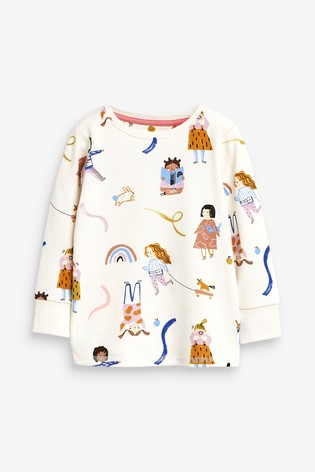 Multi 3 Pack Rainbow/Girl Cotton Snuggle Pyjamas (9mths-8yrs)