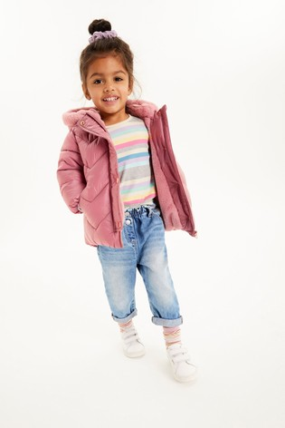 Pink Shower Resistant Padded Jacket (3mths-7yrs)