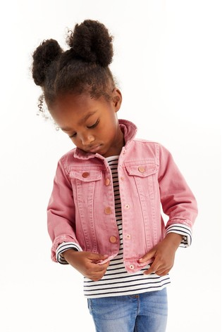 Pink Denim Western Jacket (3mths-7yrs)