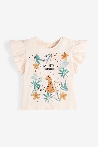 Pale Pink Leopard T-Shirt (3mths-7yrs)