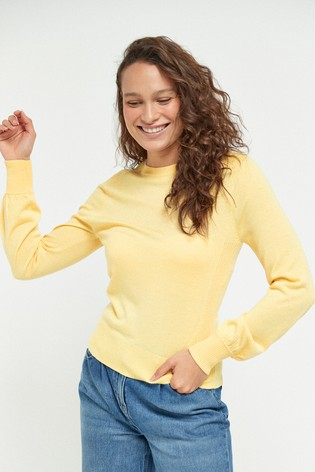 Lemon Volume Sleeve Jumper