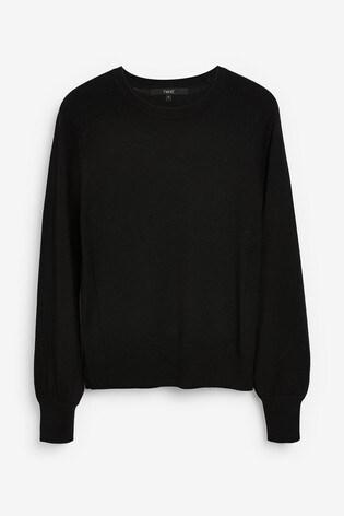 Black Volume Sleeve Jumper