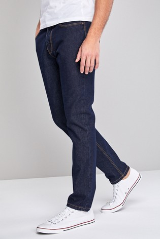 Dark Wash Slim Fit Cotton Rigid Jeans