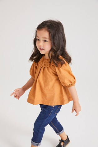 Ginger Frill Collar Blouse (3mths-7yrs)