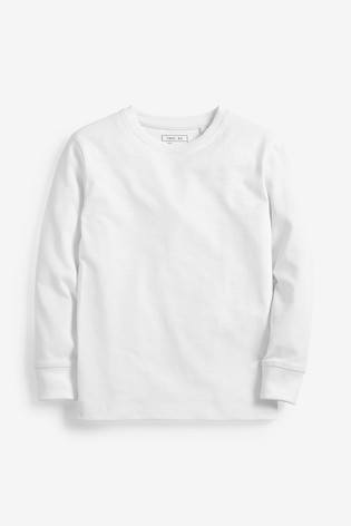 White Long Sleeve Cosy T-Shirt (3-16yrs)